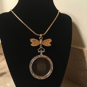 Dragonfly Monocle Necklace Magnifier